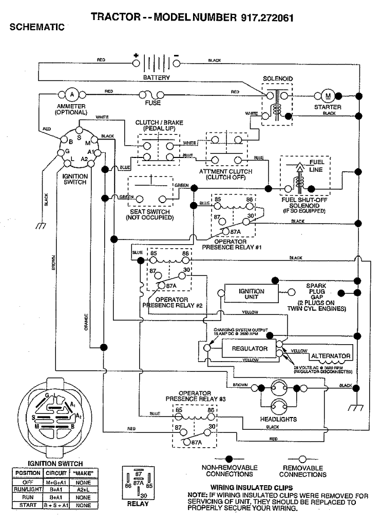 lt1000 kohler schematic craftsman lt 1000 wiring diagram lawn mower ignition switch wiring Craftsman Lawn Mower Won't Start at gsmx.co