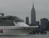 Carnival Majestic in front of the NYC skyline