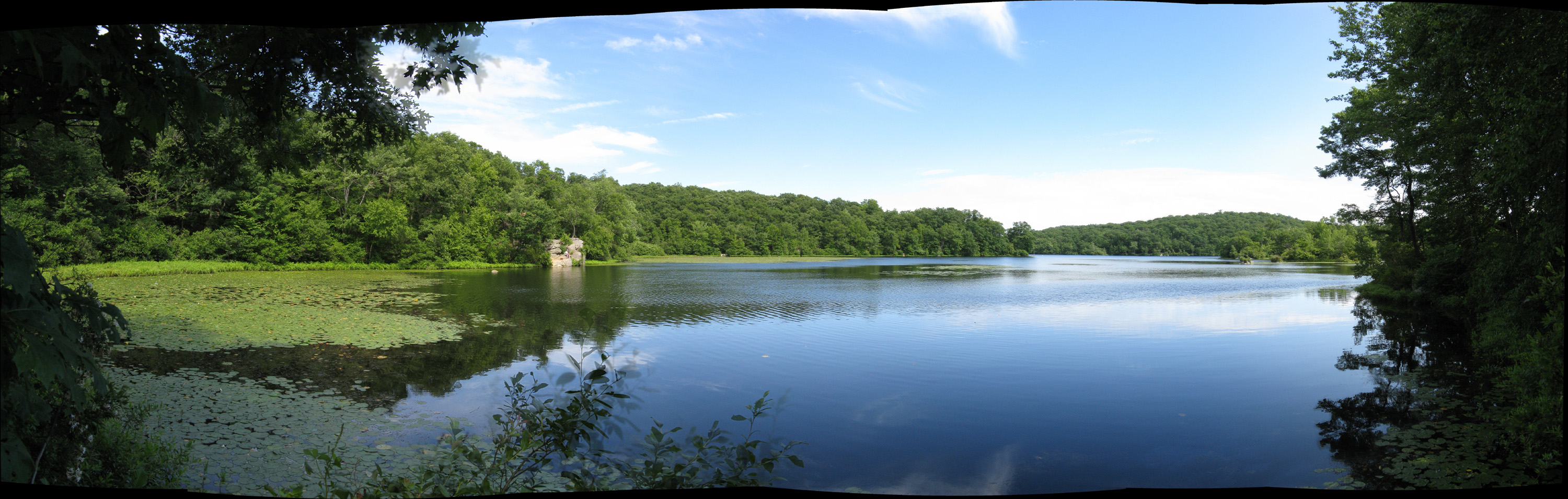 Fishing at ramapo lake in my travels for Tom bass park fishing